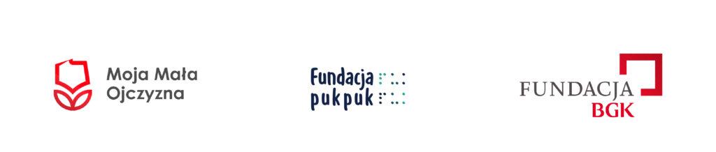 logo noja mała ojczyzna, logo fundacja puk puk, logo fundacja bgk